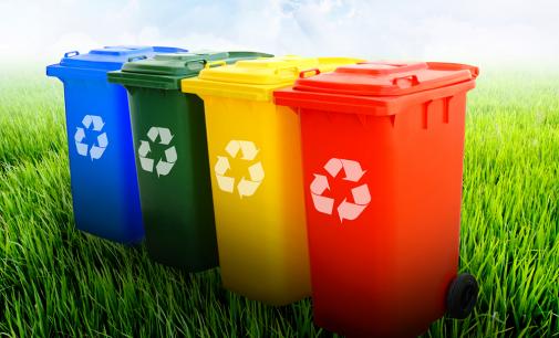 Separação e reciclagem  do lixo doméstico