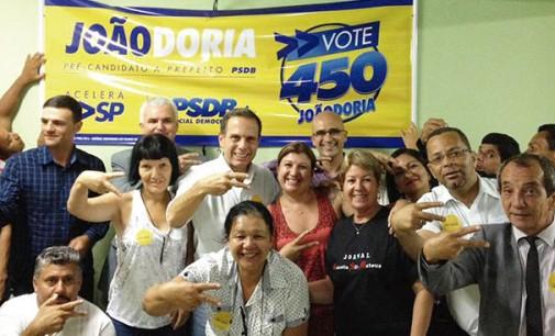 Candidato em prévias do PSDB, João Doria visita São Mateus