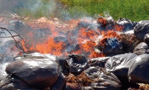 Queimar lixo: um ato criminal e de desrespeito com o Planeta!